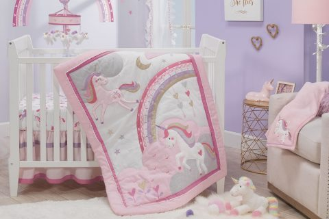 best unicorn crib bedding by lambs & ivy
