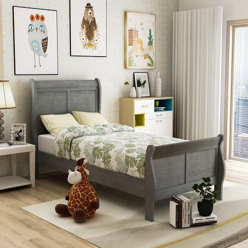 Furniture of America Mayday II Classic Twin-size Wooden Sleigh Bed