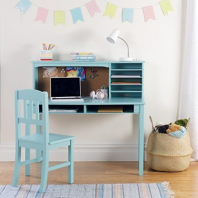 Glaser Kids Writing Desk and Chair Set with Kids Hutch