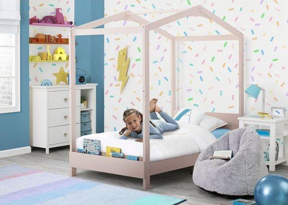 Poppy House Twin Platform Bed, by Delta Children