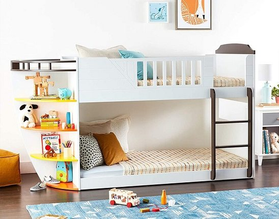 Twin Over Twin Boat Bunk Bed, by Isabelle & Max