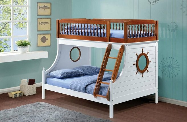 Twin Over Twin Nautical Bunk Bed, by Isabelle & Max