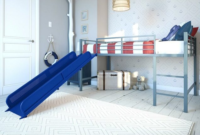 Whitbeck Twin Loft Bed with Slide, Viv + Rae