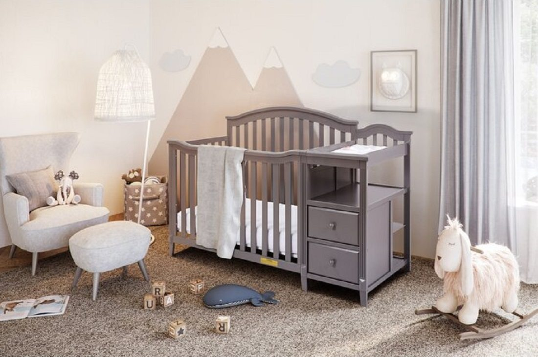 best crib and changing table brompton by harriet bee