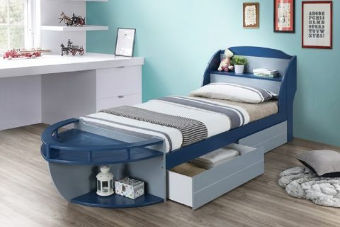 boat bed by zoomie kids